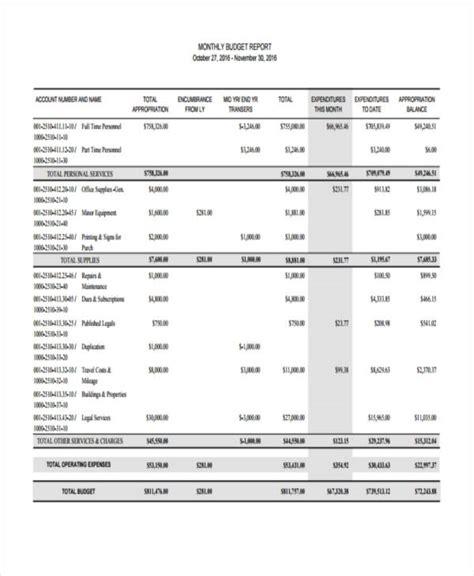 monthly report samples word docs  premium