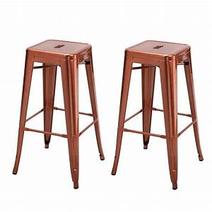 Homebeez, 30, Inches, Metal, Bar, Stools, Tolix, Style, Counter, Height, Stools, Outdoor, Industrial, Bar
