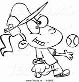 Tomboy Coloring Cartoon Drawing Baseball Softball Catching Tossing Outlined Player Leishman Nombres Toonaday Ron Getdrawings Template Vecto Rs Jeu sketch template