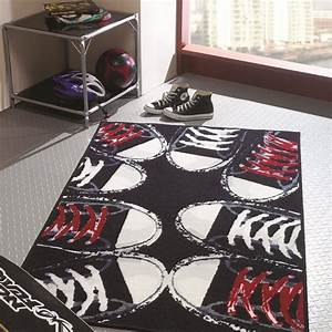 tapis chambre ado sneakers flair rugs 100x160 With tapis chambre ado