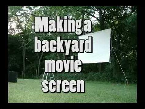building  backyard  screen youtube