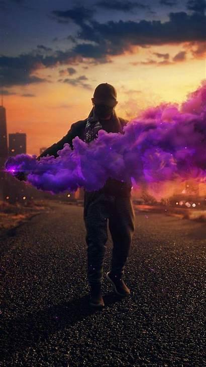 Iphone Smoke Guy Bomb Wallpapers Mask Iphoneswallpapers