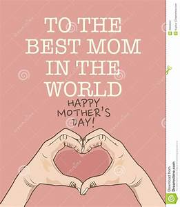 Mothers Day Poster Stock Vector - Image: 39956461