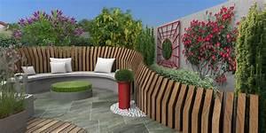 Palissade De Jardin : coins salon au jardin en 3d ~ Melissatoandfro.com Idées de Décoration