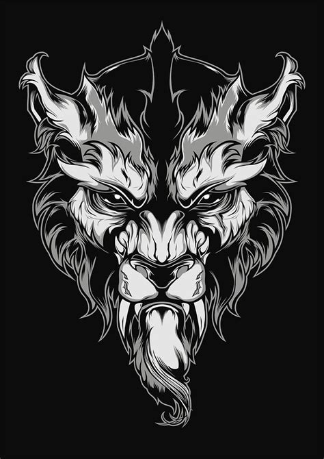 Lycanthrope Illustration Behance Neotraditional