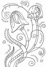 Coloring Psychedelic Mushrooms Pages Mushroom Drawing Adult Printable Template Categories Getdrawings Creative Getcolorings sketch template