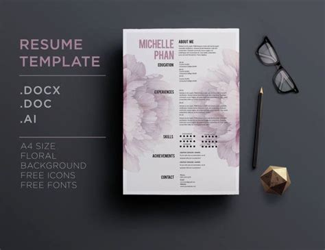 cv template 1 page resume cover letter