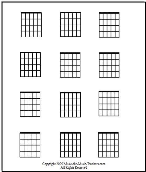 Guitar Chords Diagrams Blank