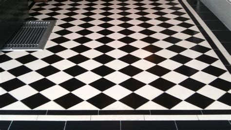 black and white floor tiles wood floors