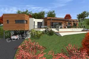 Maison Avec Sous Sol Sur Terrain En Pente : plan de maison contemporaine quartet ~ Melissatoandfro.com Idées de Décoration