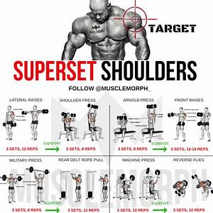 Superset Shoulder Shoulder Workout Exercise Gym Musclemorph Musclemorph Supps Bodybuilding