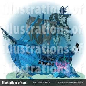 Sunken Pirate Ship Clip Art