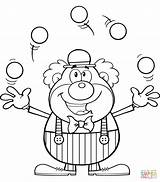 Clown Juggling Circus Coloring Clipart Pages Balls Happy Juggler Outline Drawing Cartoon Colorear Line Para Hit Supercoloring Template Animals Circo sketch template