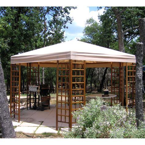 garden winds gazebo garden winds replacement canopy for hexagon trellis gazebo