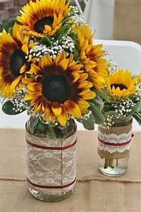 Sunflower Decorations For Wedding Rustic Sunflower Wedding Ideas