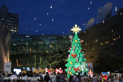 Visiting The Lego Christmas Tree At Federation Square