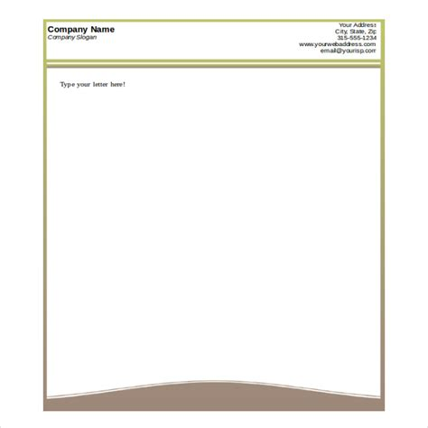 business letterhead template word 35 free letterhead templates in microsoft word 20753 | Printable Design Letterhead Free Word Format Template1