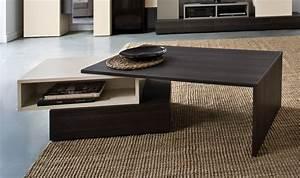 Table Basse Design Bois : table basse design et modulable en bois beige et ch ne fonc hifi ~ Teatrodelosmanantiales.com Idées de Décoration