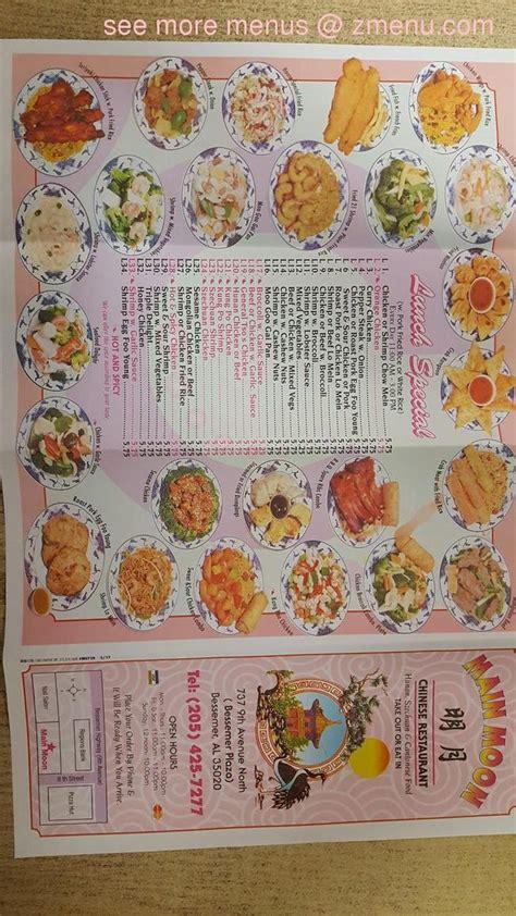 menu  main moon chinese restaurant restaurant