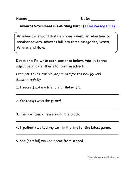 adverbs worksheet 2 l 3 1 l 3 1 adverbs