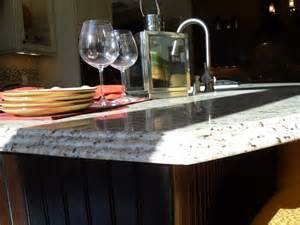 Kitchen Collection Llc Waterfall Edge On New Venetian Gold Capitol Granite