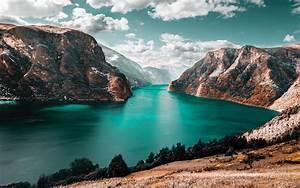 Download, Wallpaper, 3840x2400, Mountains, Lake, Sky, Clouds, Mountain, Landscape, Grass, 4k, Ultra, Hd