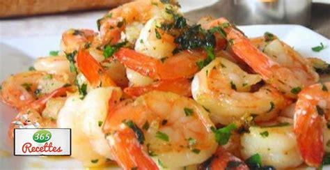 recette crevettes sautees  lail  aux oignons verts