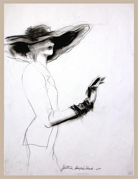 french fashion charcoal illustration