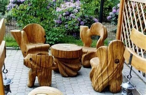 log furniture plans recycled things