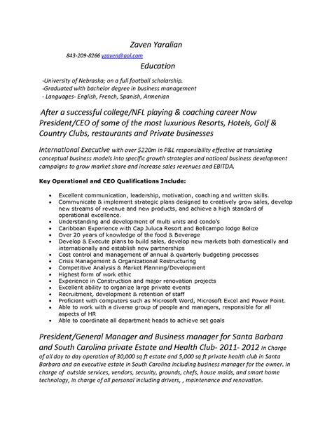 sle of sports management resume athletic management resume sales management lewesmr