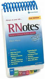 RNotes: Nurse's Clinical Pocket Guide / Edition 2 by Ehren ...
