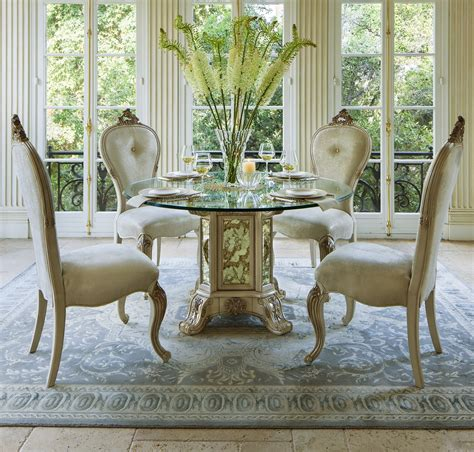 5pc dining table set platine de royal 5 pc 54 quot dining table set in