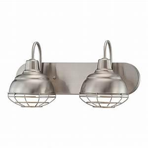 shop millennium lighting 2 light neo industrial satin With bathroom lightimg