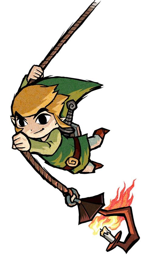 Link Rope Action Characters And Art The Legend Of Zelda