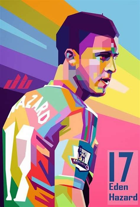 He plays for real madrid and the belgium national team. Eden Hazard | WPAP ART GALLERY