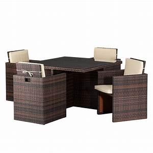 Polyrattan Sitzgruppe Braun : sitzgruppe paradise lounge 5 teilig online kaufen home24 ~ Watch28wear.com Haus und Dekorationen
