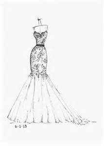 Wedding Dress Drawing Sketch