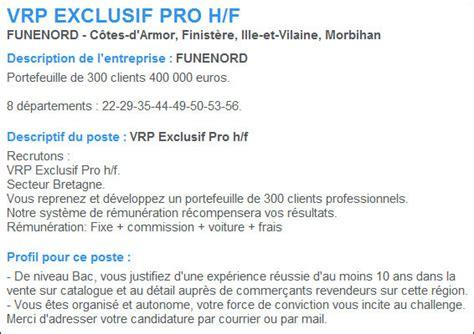 Modification Contrat De Travail Vrp d 233 finition vrp exclusif 187 d 233 finitions marketing