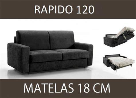 canape 120 cm convertible canape lit 2 places master convertible ouverture rapido 120 cm microfibre gris graphite matelas