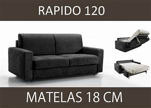 canape lit 2 places master convertible ouverture rapido With canapé 2 places 120 cm
