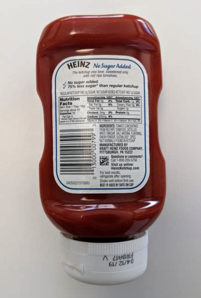 Product Review: Heinz No Sugar Added Ketchup - screwed on ...