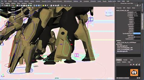 Rigging An Animation Mech Character