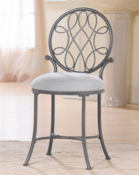 malley metal vanity stool