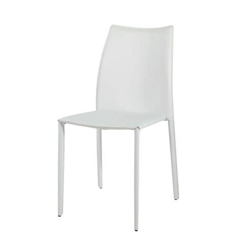 chaise blanc et bois chaise en cuir recyclé et bois blanche klint maisons du