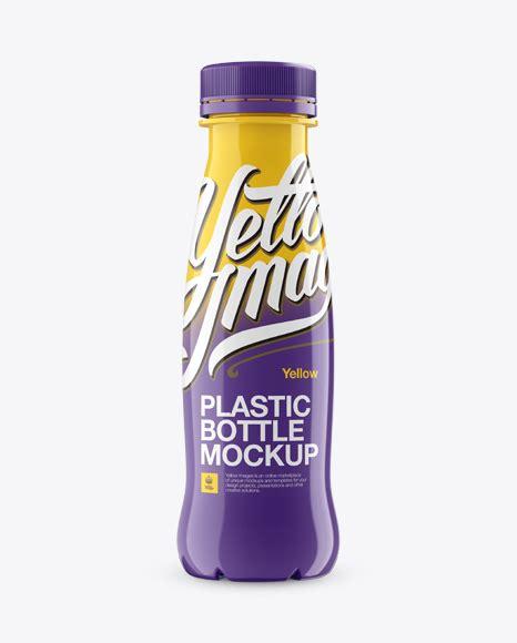 Editable jug, lid and reflection color. Download Frosted Milk Bottle Mockup PSD - Plastic Bottle ...