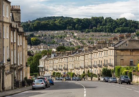 Bath : Bathwick Hill, Bath, Somerset, Uk