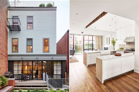 Greenpoint Row House Features Twostory Kitchen And Bone