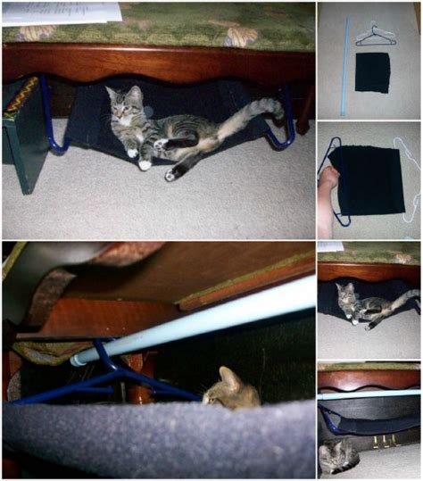 cat hammock diy 20 purrfect diy projects for cat owners page 2 of 2