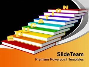 Golden Education On Books Future Powerpoint Templates Ppt