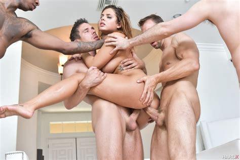 Keisha Grey First Gangbang Double Penetration Scene
